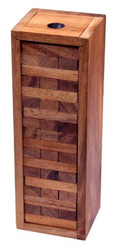 Wackel Turm Gr. XL - Condo - Holzturm - Geschicklichkeitsspiel - Gesellschaftsspiel - Familienspiel aus Holz
